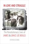white cover with a grayscale photo of James and Grace Lee in the middle. Title in black and red above an below photo.