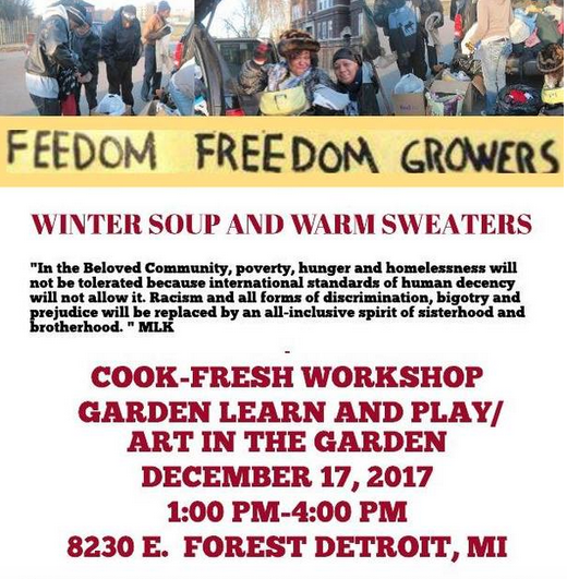 Flyer for Feedom Freedom Growers event